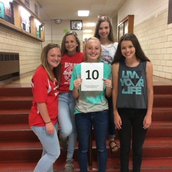 NUMBER 10 - The number of games the 8th grade ladies basketball team won