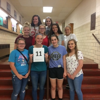 NUMBER 11- 8th grade softball team won 11 games