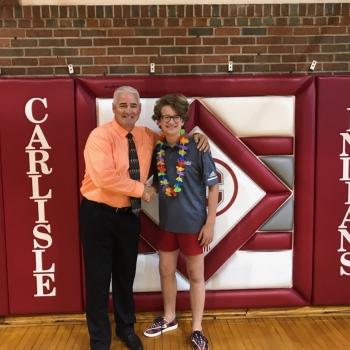 Principal Dan Turner & Cruz Allison
