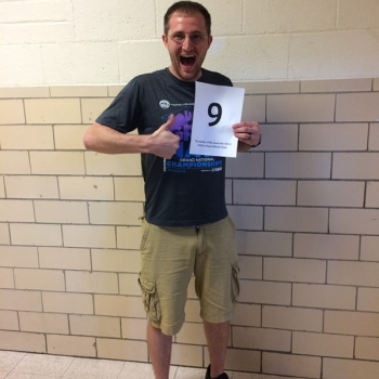 NUMBER 9 - Number of Mountain Dews Mr. Oliver drinks in band class