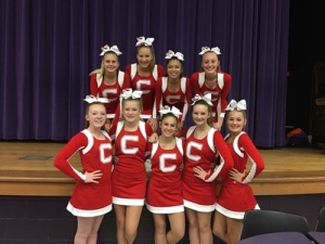 Chamberlain Middle School Cheer Competition Cheerleaders