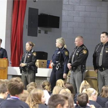 Warren County Sheriff's and Carlisle officers attended the ceremony