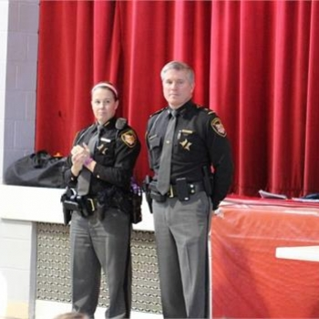 Local police officers lead the DARE graduation