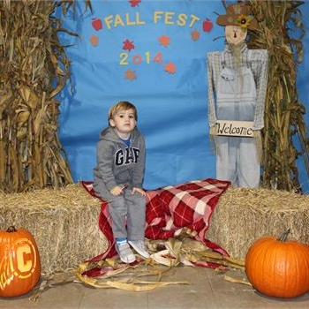 The picture backdrop at Grigsby's Fall Fest