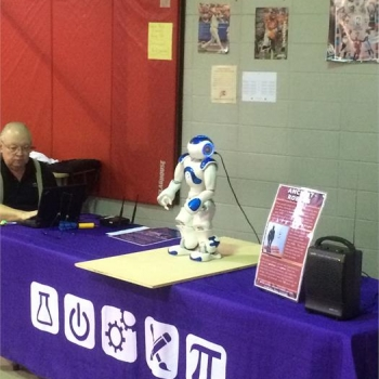 Nao interacts with the students