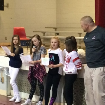 Student Council Officers share the many accomplishments that third, fourth, and fifth graders worked so hard for